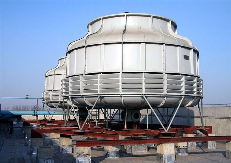 """""""玻璃钢双曲线自然通风冷却塔""""是山西科工公司科技人员自主研发的新"""